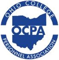 OCPA Ohio College Personnel Association, with an outline map of the state of Ohio
