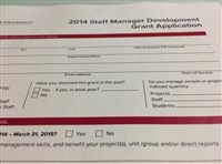 Staff Manager Development grants application photo