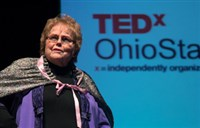 Barbie Tootle delivering her speech at Ohio State TEDx