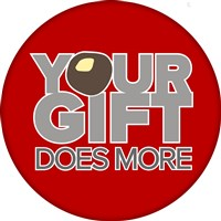 "Campus Campaign (2017) with Your Gift Does More...the ""o"" in gift is a buckeye"