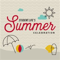 Student Life's Summer Celebration 2017 with drawn beach scenes
