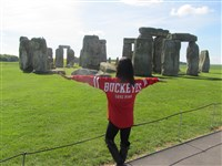 Stonehenge with Ohio State student