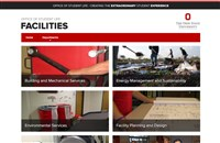 Facilities website screen shot