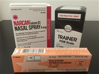 Narcan-Naloxone containers