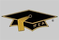 Mortar Board logo with cap and tassle