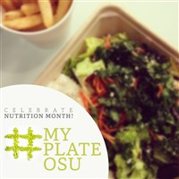 My Plate-Celebrate Nuitrition Month with a hashtag formed out of beans