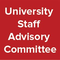 University Staff Advisory Committee on a solid background